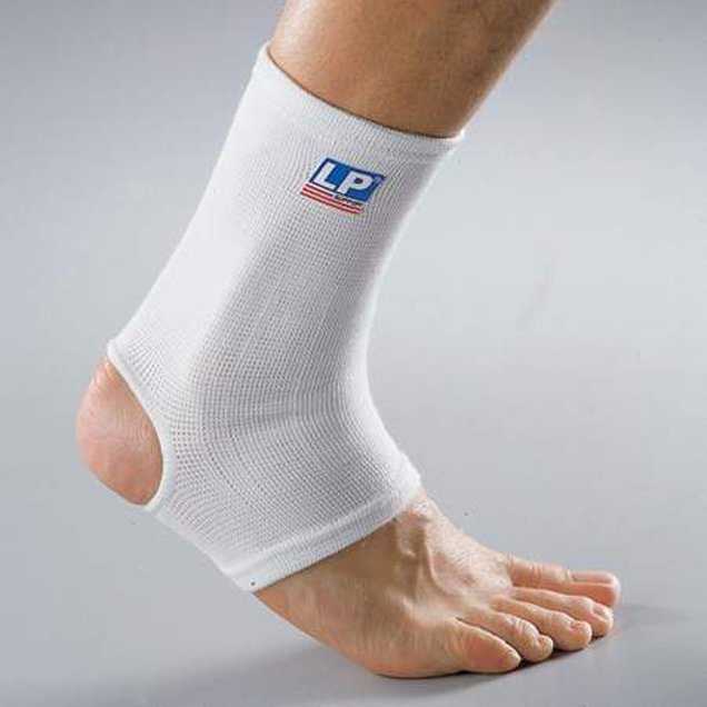 LP Elasticanted Ankle Support 604, White
