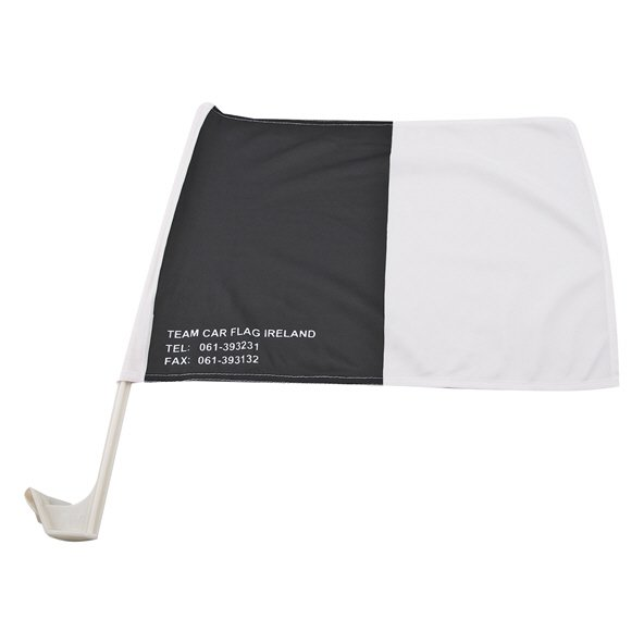 Black White Car Flag