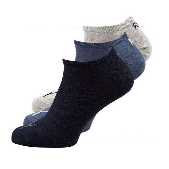 Puma Women's Low Cut Sock 3 Pack Navy/Grey/Blue