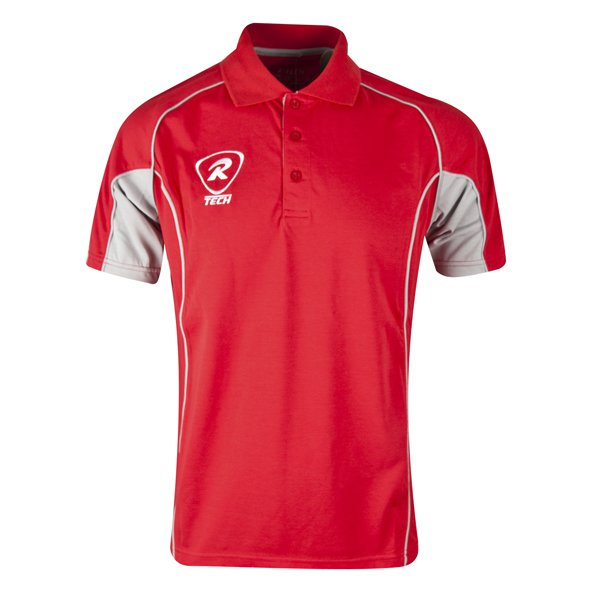 Rugbytech Men's Tech Polo, Red
