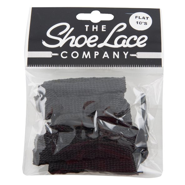 Shoe Lace Company Flat Laces Black