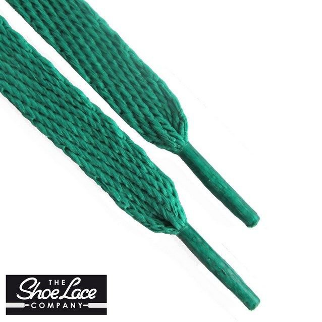 Shoe Lace Company Flat Laces Green