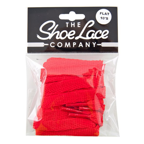 Shoe Lace Company Flat Red