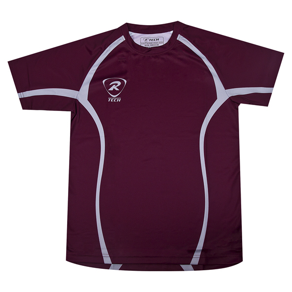 RTECH maroon sublimated tech tee