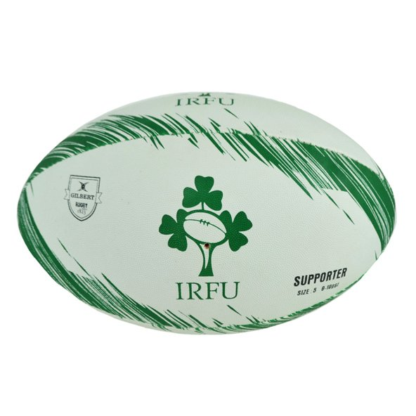 Gilbert IRFU Supporters Rugby Ball, White
