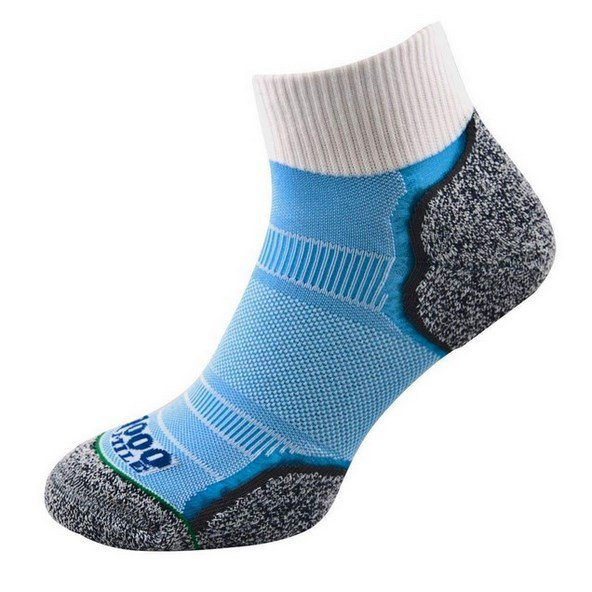1000 Mile Breeze Anklet Sock White/Blue