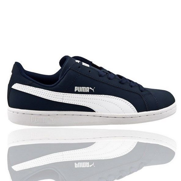 Puma Smash Nubuck Mens Shoe Nvy/Wht