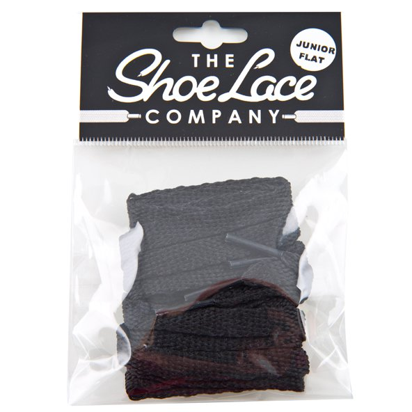 Shoe Lace Company Junior Flats 8mm Black
