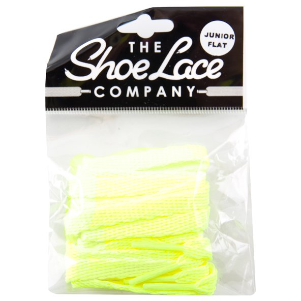 Shoe Lace Company Jnr Flat 8mm Flo Yell