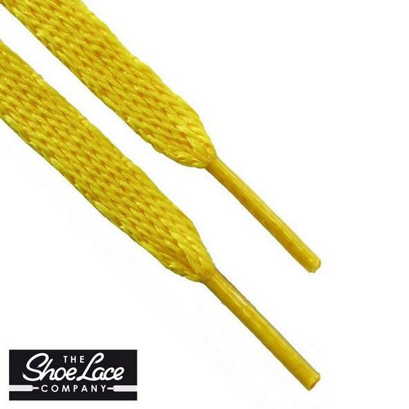 Shoe Lace Company Junior Flat Laces Yellow