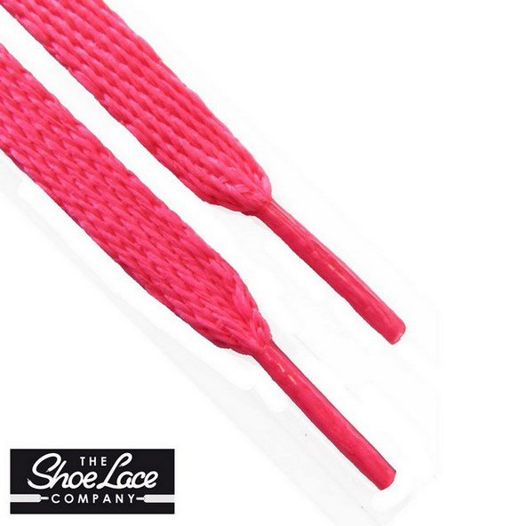 Shoe Lace Company Junior Flat Laces Pink