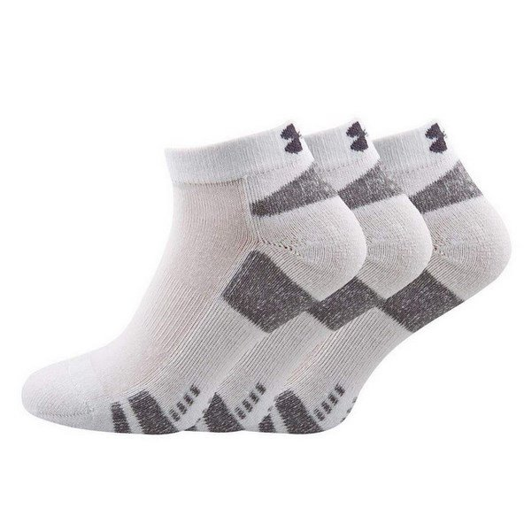 Underarmour Heatgear 3pk Lo Cut Sock Wht