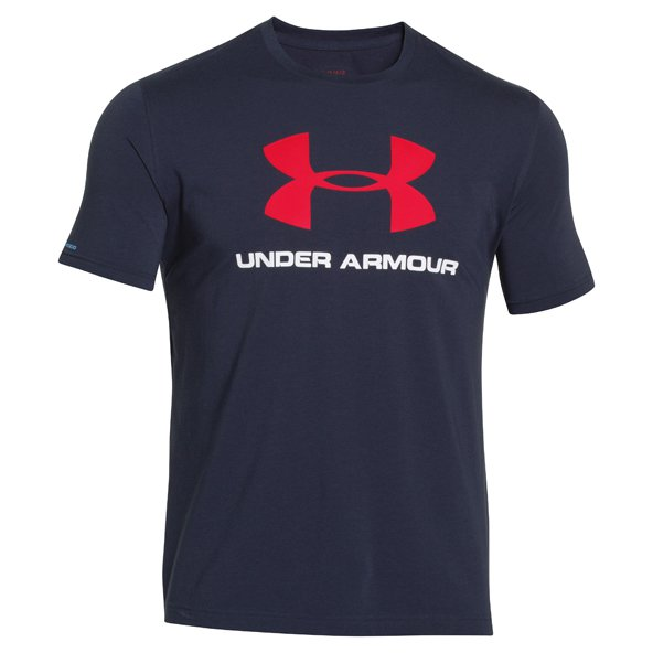 UA Charged Cotton® Sportstyle Logo Men's T-Shirt, Navy