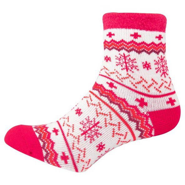 Yaktrax Aloe Cabin Socks Red