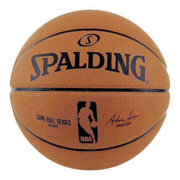 Spalding NBA Game Replica Ball Basketball, Brown