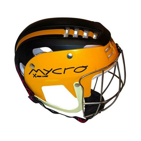 Mycro Adult Stripe Helmet Black/Yellow