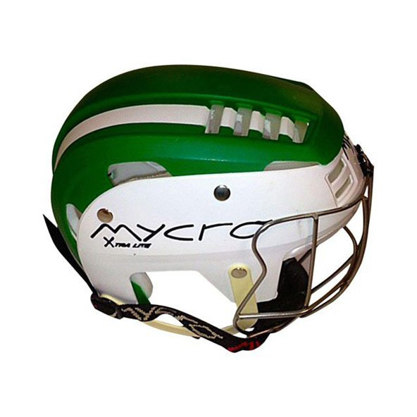 Mycro Kids Stripe Helmet Green/White