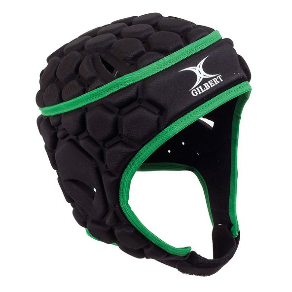 Gilbert Falcon 200 Rugby Headgear, Black/Green