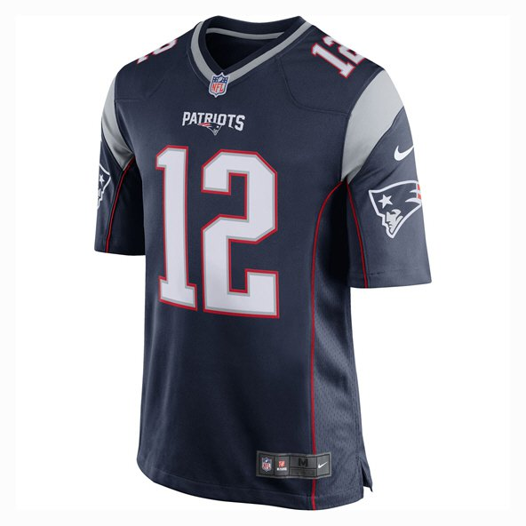 Nike New England Patriots Brady No.12 Jersey, Navy