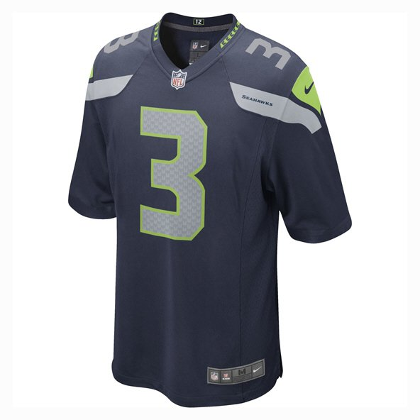 Nike Seattle Seahawks Kids' Wilson 3 Jersey, Blue