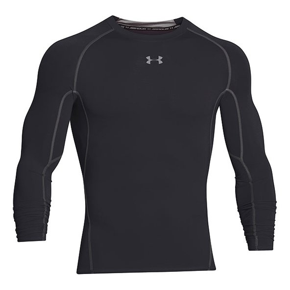 UA HG Armour LS Compresion Baselayer Blk
