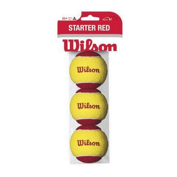 Wilson Starter Balls 3 Pack, Yellow/Red