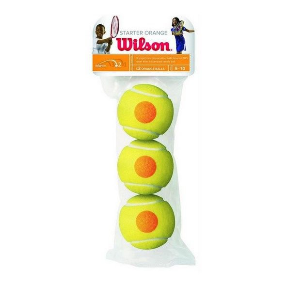 Wilson Starter Balls 3 Pack, Yellow/Orange