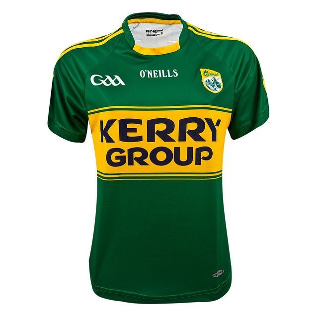 O'Neills Kerry Hm15 Wmn Fit Jers Grn/Yl