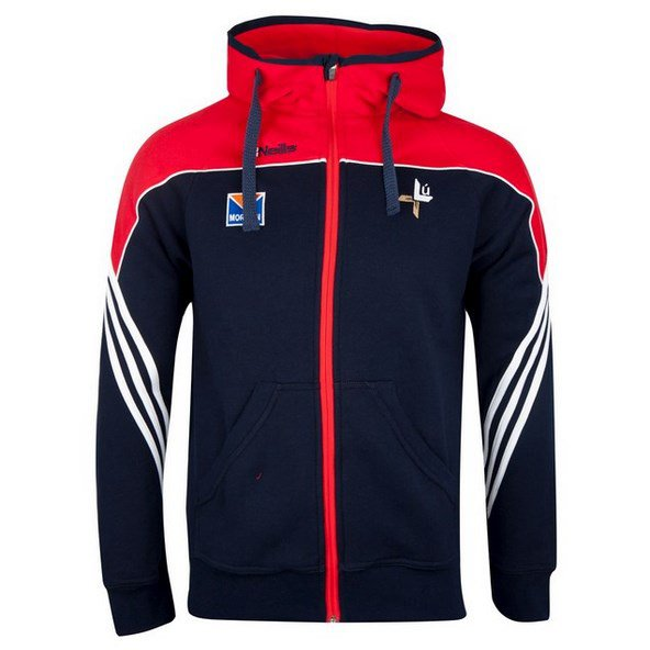 O'Neills Louth Parnell FZ Hoody Nv/Red
