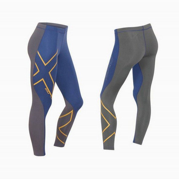 2XU Defence Thermal CompTights Blue