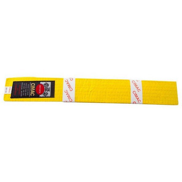 Cimac Karate Belt 240cm Yellow