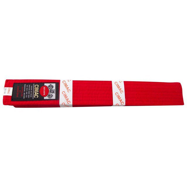 Cimac Karate Belt 240cm Red