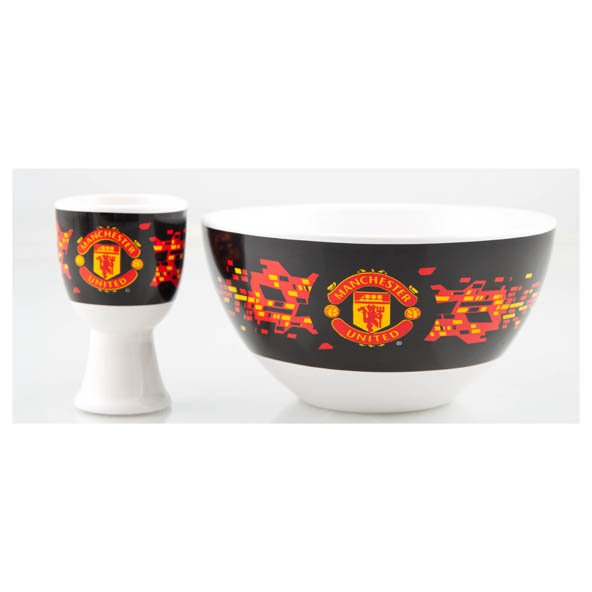 Man United Cereal Bowl & Egg Cup Set