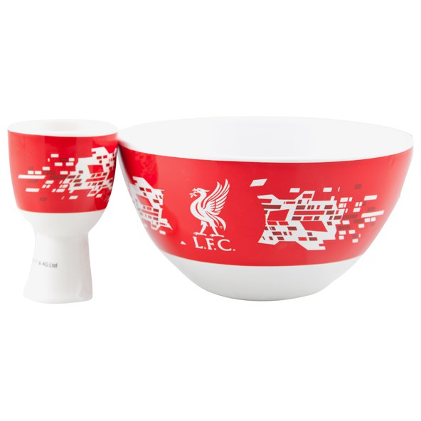 Liverpool Cereal Bowl & Egg Cup Set