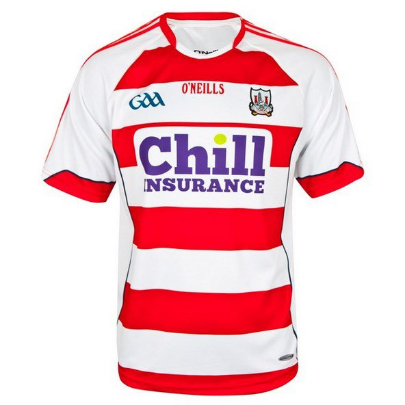 O'Neills Cork 2016 Goalkeeper Jersey White/Red