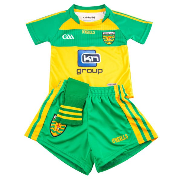 O'Neills Donegal Home Kids Kit 16 Yel/Gr
