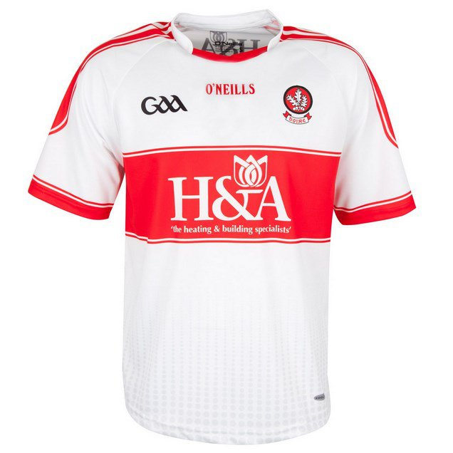 O'Neills Derry Home 16 Jersey White/Red