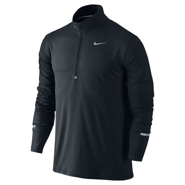 Nike Dri-FIT Element Men's ½ Zip Running Top, Black