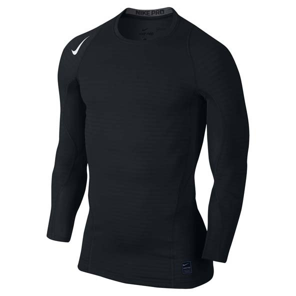 Nike Comp Warm LS Mens Crew Blk/Grey