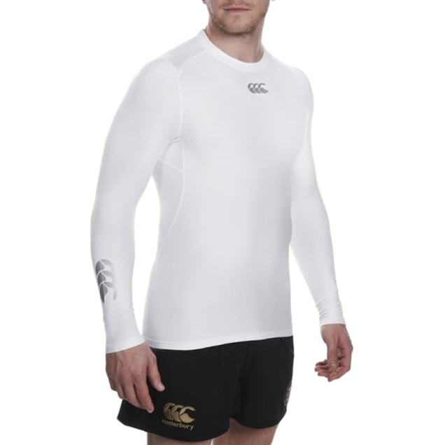 Canterbury Thermoreg Men's Cold Gear Baselayer, White