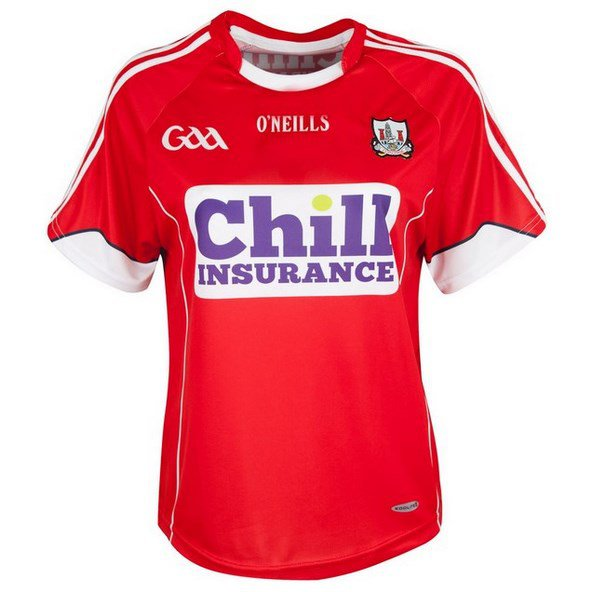 O'Neills Cork 2016 Ladies Fit Home Jersey Red