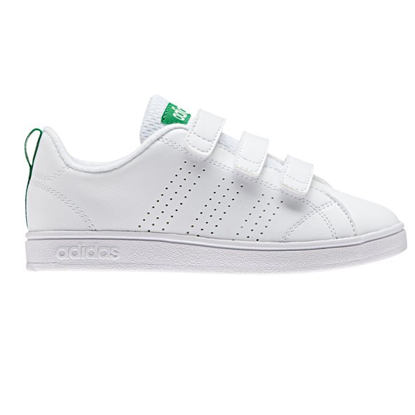 adidas Advantage Clean CMF Junior Boys' Trainer, White