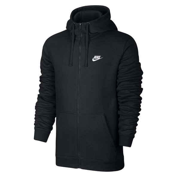 Nike Club Fleece Men's Full Zip Hoody, Black