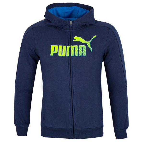 Puma Sports Boys' Full Zip Hoody, Navy