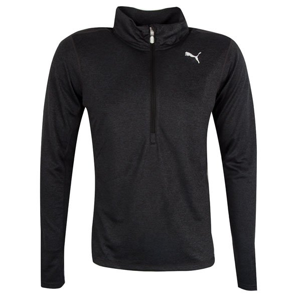Puma Men's ½ Zip Running Top, Black