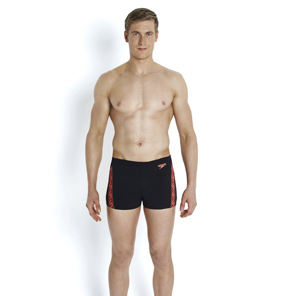 Speedo Monogram Aquashort Black/Red