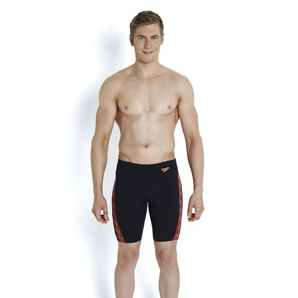 Speedo Monogram Jammer Shorts Blk/Red