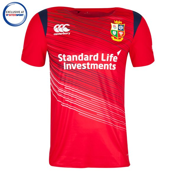 Canterbury Lions 2017 Kids' Warm Up T-Shirt, Red