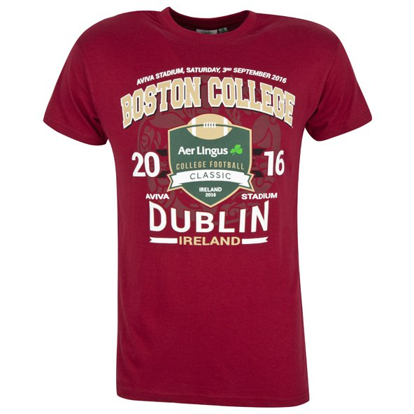 Boston College Aer Lingus Classic Men's T-Shirt, Red