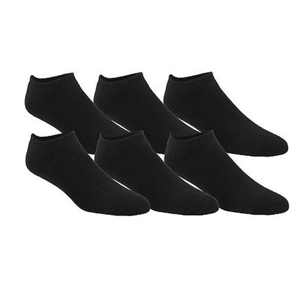 Sofsole All 6pk Sport No Show Sock Black